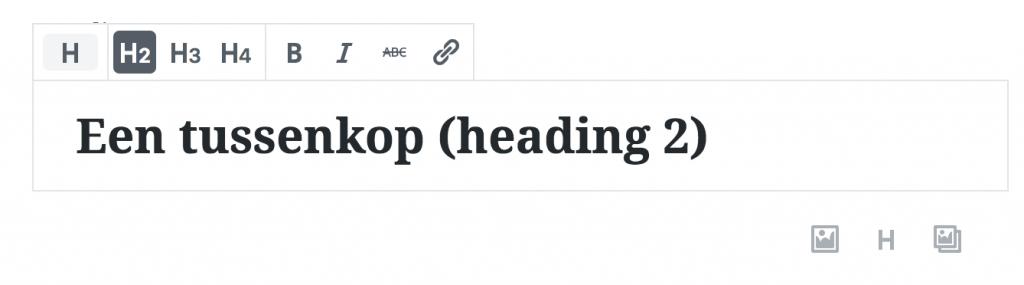 Heading blok Gutenberg