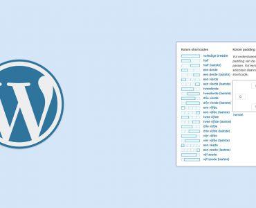 Kolommen maken in WordPress