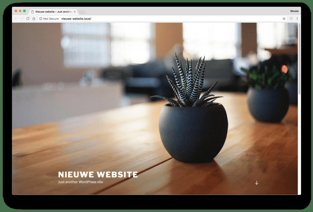 Nieuwe WordPress-website