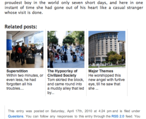 Related Posts Thumbnails Plugin for WordPress