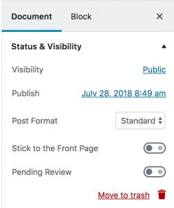 Status en zichtbaarheid
