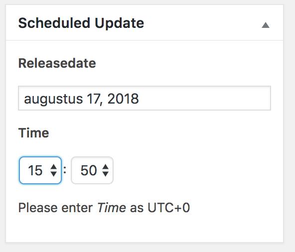 Update inplannen