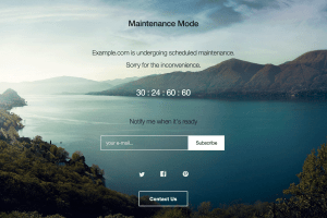 WP Maintenance Mode plugin