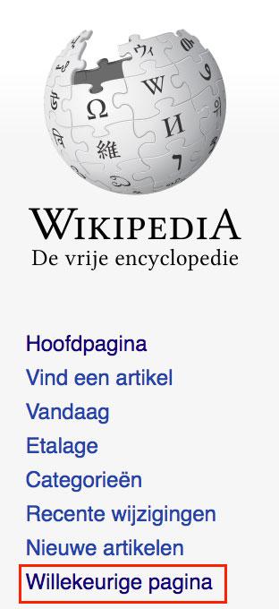 Wikipedia willekeurige pagina