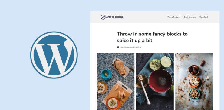 Atomic Blocks WordPress theme Gutenberg