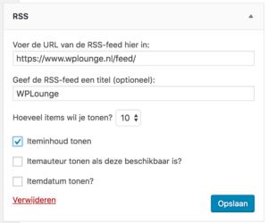 WPLounge RSS widget