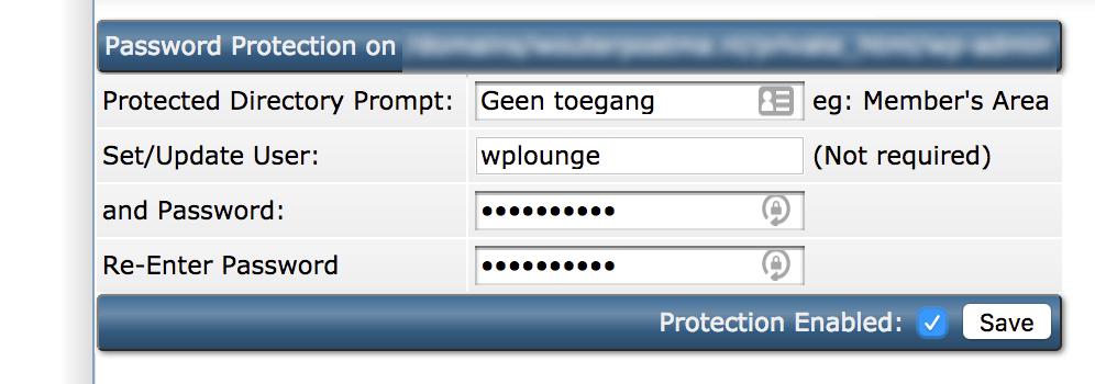 Gebruikersnaam en wachtwoord