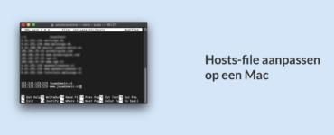 Hosts file aanpassen op een Mac