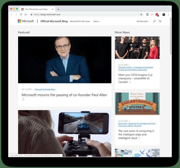 Microsoft WordPress blog