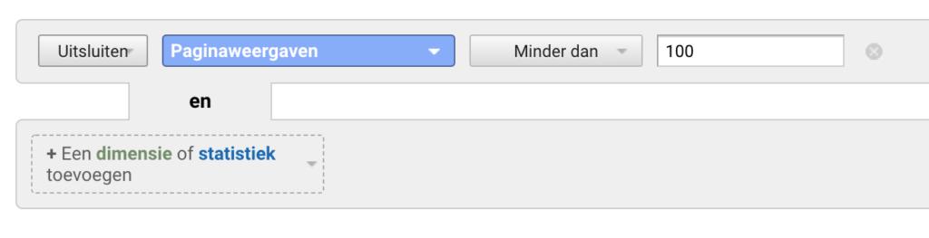 Pagina's wegfilteren Google Analytics