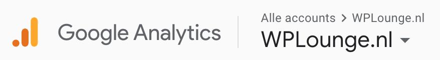 Welke website bekijk ik Google Analytics