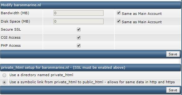 In Domain Setup omzetten naar https