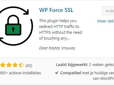 WP Force SSL Plugin installeren