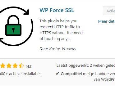 WP Force SSL Plugin installeren