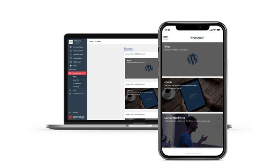 Desktop en mobiele versie WPLounge