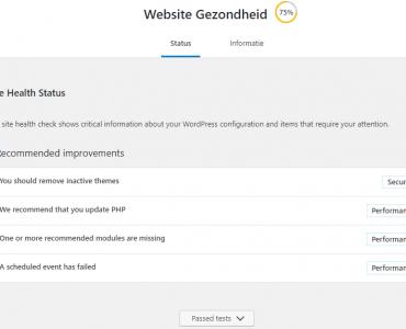 Website gezondheid Wordpress website