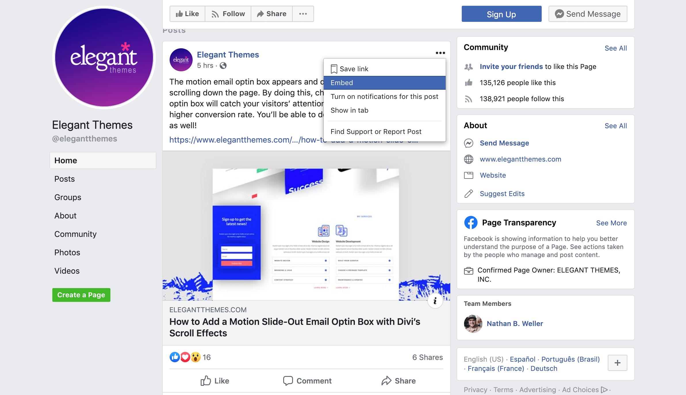 iFrames-facebook-embed-code