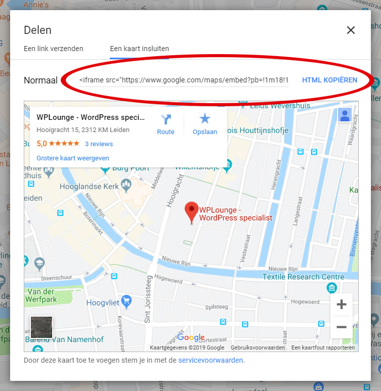 iFrame Google Maps