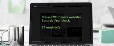 Nieuwe WordPress website