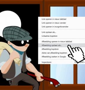 Rechter muisknop afbeelding opslaan