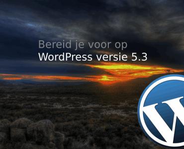 WordPress versie 5.3