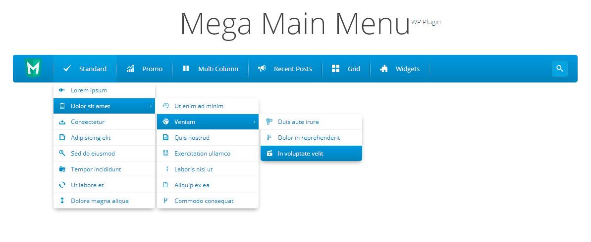 Mega Main Menu WordPress plugin