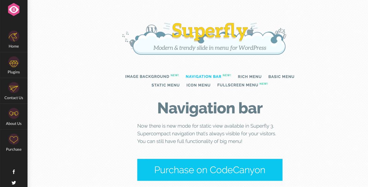 Superfly WordPress menu plugin