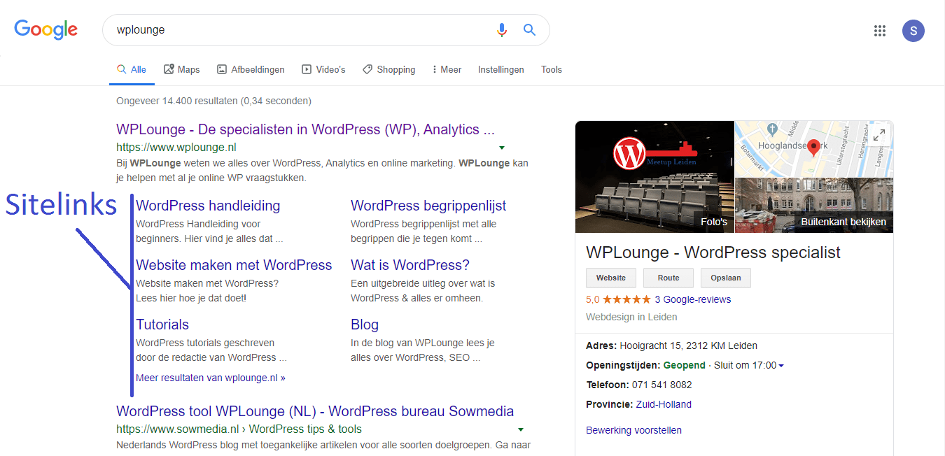 sitelinks WPLounge