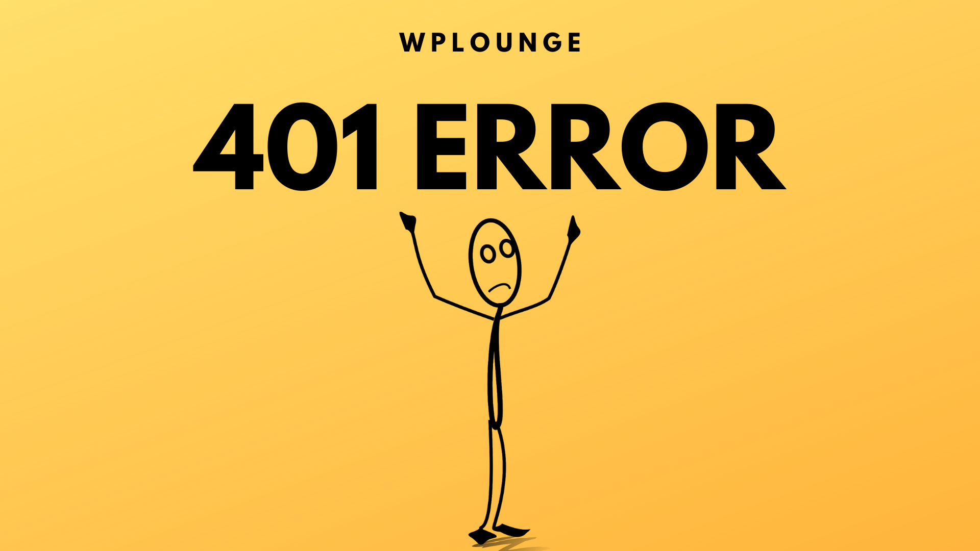 401 Error WPLounge