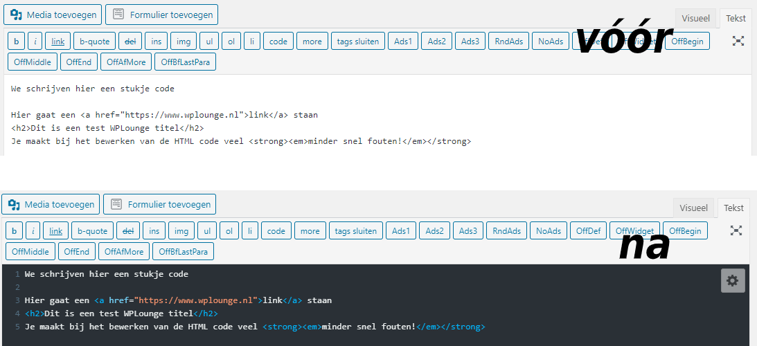 Syntax highlight plugin