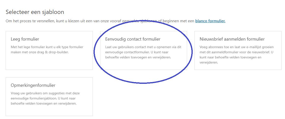 WPForms Contract formulier