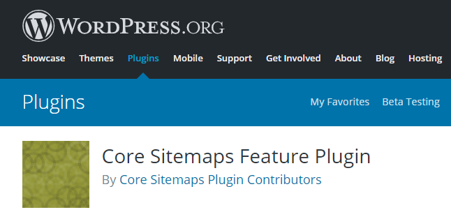 Core sitemaps feature plugin