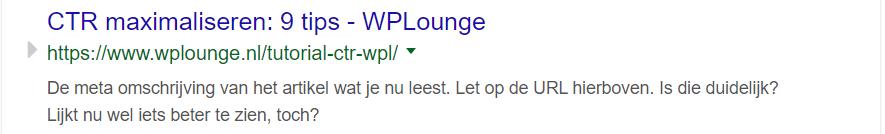 Middelmatige URL
