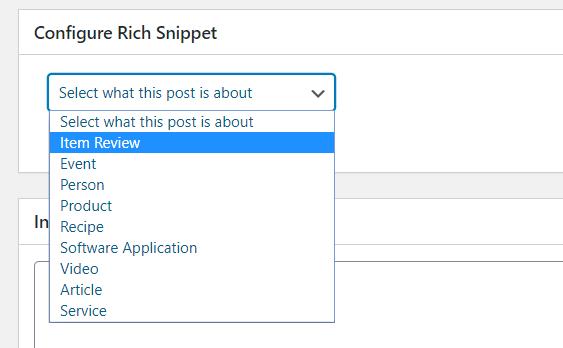 Rich snippet pluggin