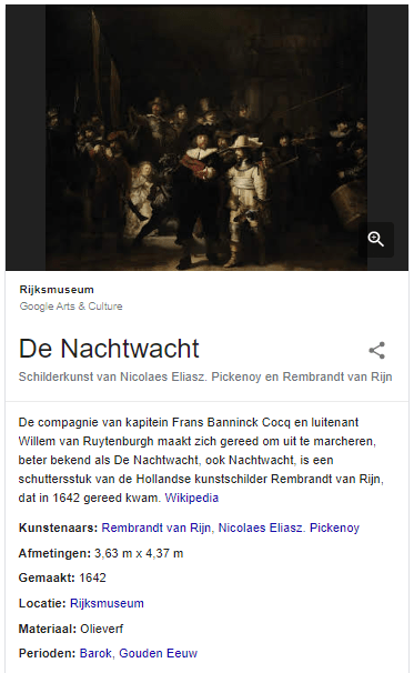 Schilderij de Nachtwacht van Rembrandt van Rijn