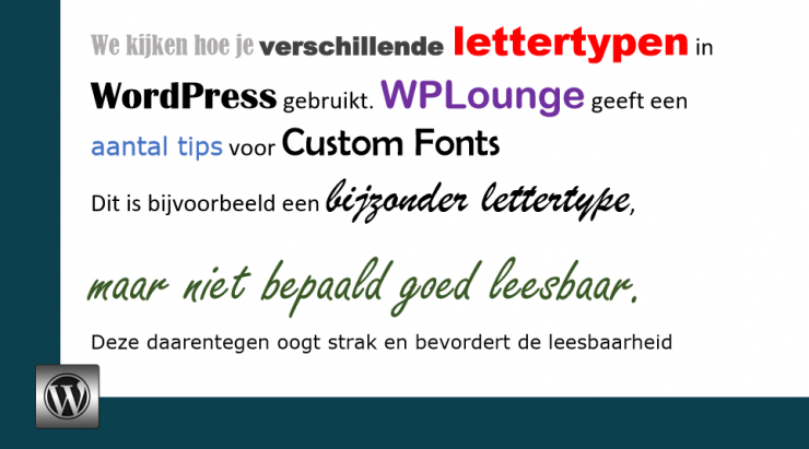 Lettertype aanpassen in WordPress