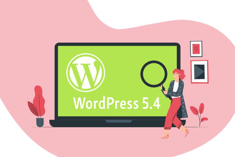 WordPress5.4 Release Laptop Illustration