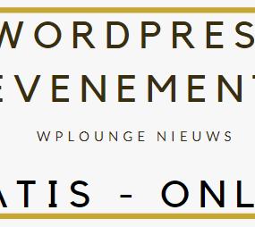 Gratis online WordPress evenement