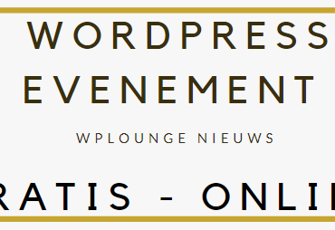 Gratis online WordPress evenement