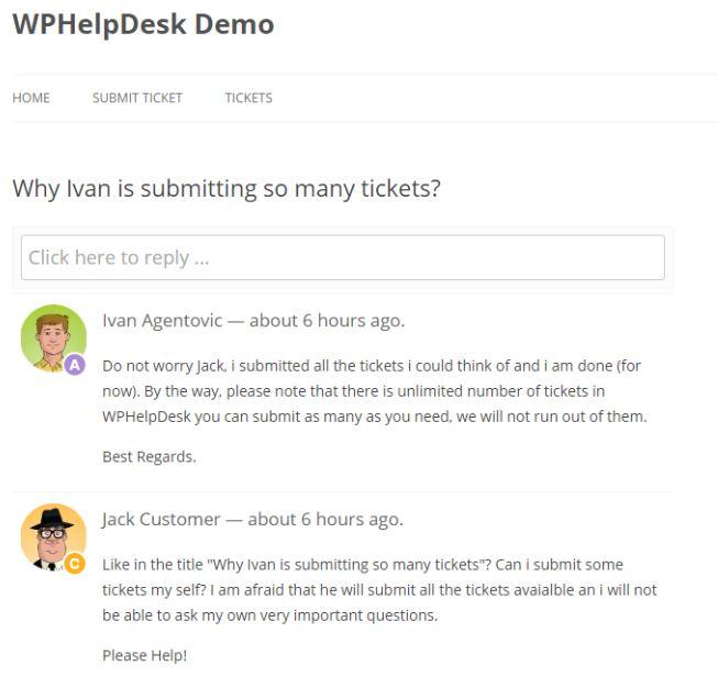 WPHelpdesk demo