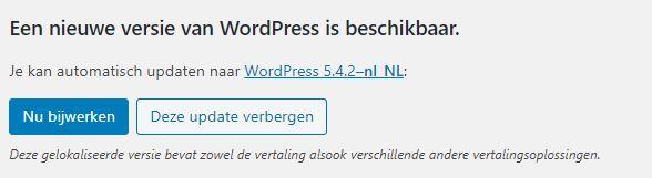 WordPress 5.4.2 update