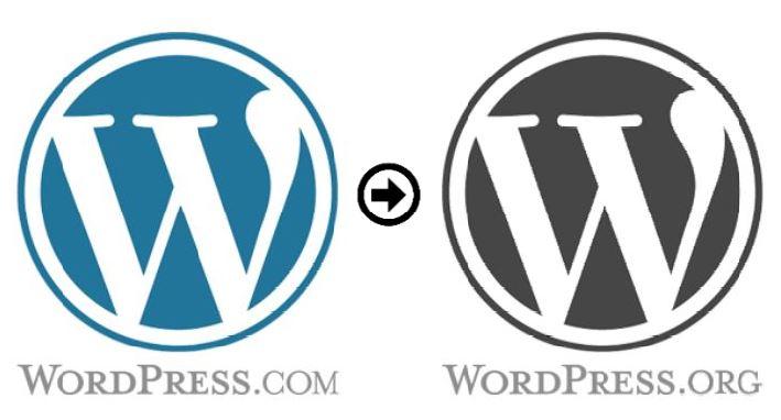 WordPress.com overstappen