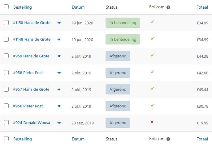 Bol.com bestellingen