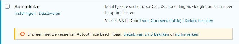 Voorbeeld Plugin update
