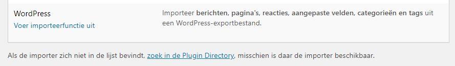 WordPress Importeren