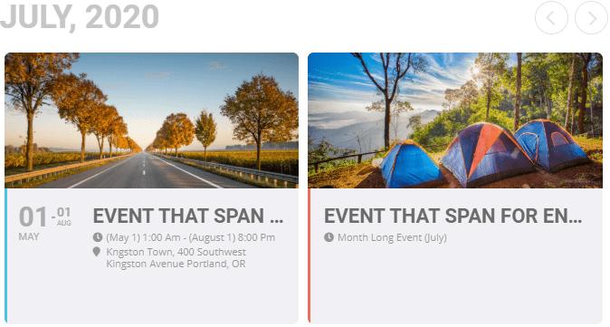 EventOn layout