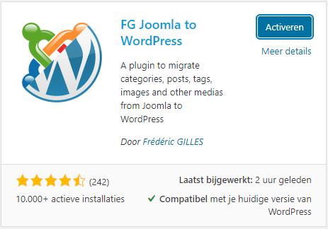 WordPress Plugin FG Joomla