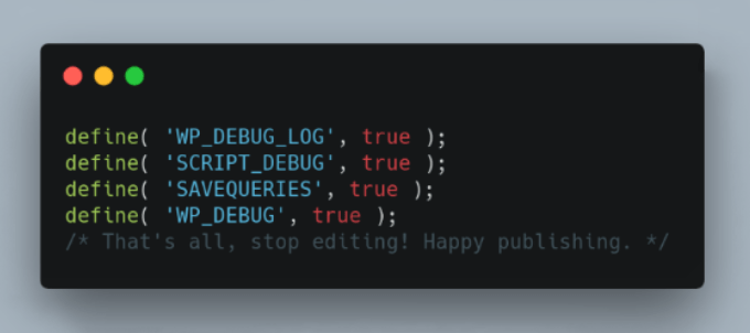 WP Debugging
