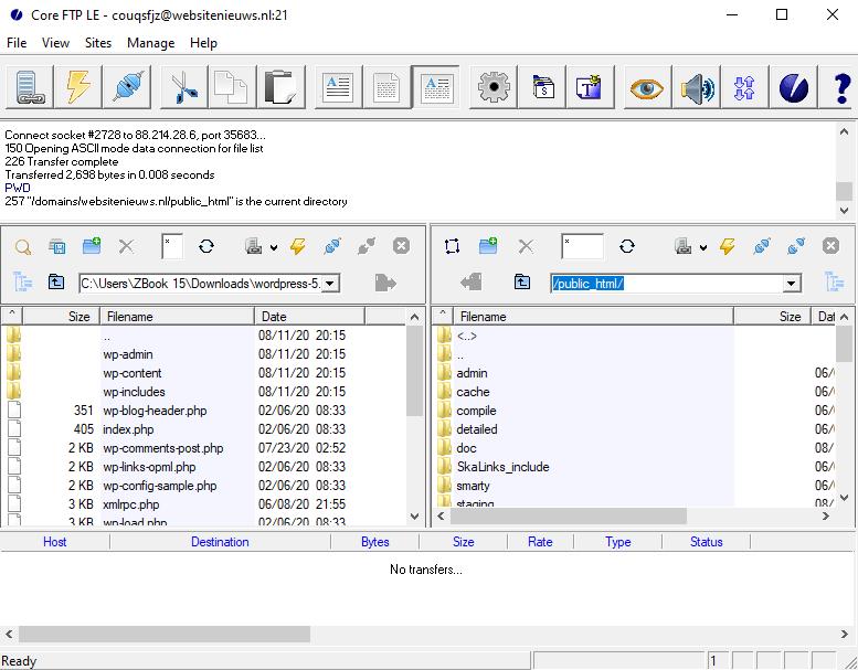 FTP Client Core FTP