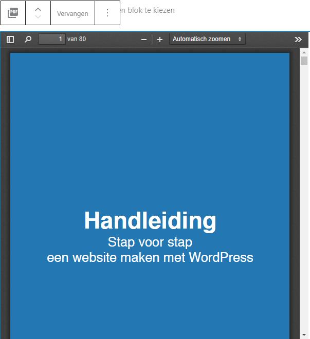 PDF viewer Gutenberg